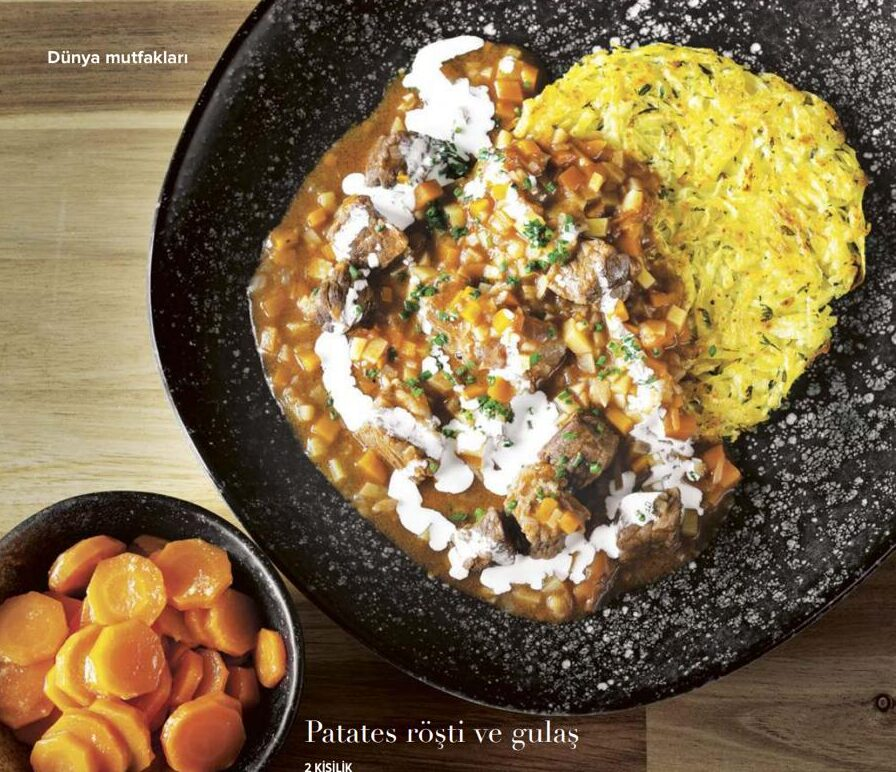 Potato Rösti and Gulasch